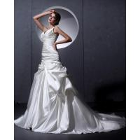 Quality White Thick Autumn couture V Neck Wedding Dresses Women drop waist Wedding gowns for sale