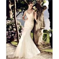 Wholesale beautiful Deep V Neck Mesh mermaid Wedding Dresses Women Lace Wedding Gowns from china suppliers