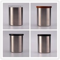 New Arrival Luxury 304 Stainless Steel Candle Jars With Lids For Home Decoration