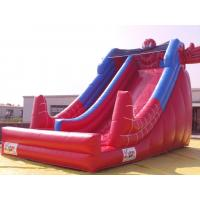 China Red Color PVC Inflatable Water Slide With Pool In Front Of / Spiderman Slides For kids on sale
