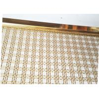 Wholesale Decoration Square Hole Type Handrail Balustrade Weave Mesh With Gold Color Frame from china suppliers