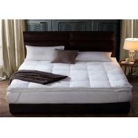 Wholesale 200GSM 20% Polyester / 80% Cotton Hotel Bed Mattress Topper Queen Size from china suppliers