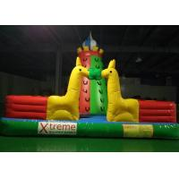Wholesale Kids Outdoor Playground Inflatable Rock Climbing Wall With Extra Webbing Reinforced Strip from china suppliers