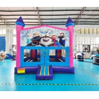 Wholesale Plato Inflatable Bounce Houses Backyard Frozen Kids Bouncy Castle from china suppliers