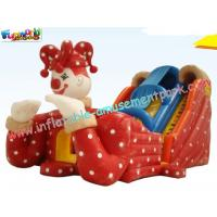 Wholesale Kids Inflatable Colorful PVC tarpaulin Commercial Inflatable Slide with digital printing from china suppliers