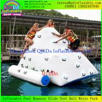 Wholesale Best Selling Funny Outdoor Commercial Grade Vinyl Tarpaulin White Inflatable Water Iceberg from china suppliers