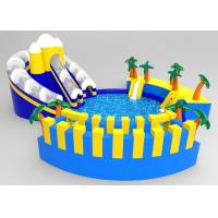 Wholesale Commercial PVC Blue Coconut Tree Inflatable Floating Water Park For Children from china suppliers