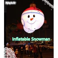 Wholesale Dia 1m Hanging Christmas Inflatable Snowman with Light for Christmas from china suppliers