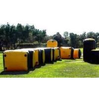 Wholesale 0.55mm PVC tarpaulin inflatable paintball tent, paintball field tent, paintball bunker from china suppliers
