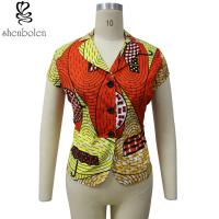8ecc91f2a8f7b2 Multi Color Short Sleeve African Print Tops Designs , African Style Women  Shirts