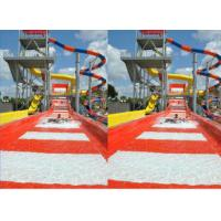 Wholesale Family Play Fun Outdoor Commercial Fiberglass Water Slides Red For Holiday Resort from china suppliers