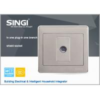 Wholesale modern design wall switch and socket, 1Gang TV wall switches and sockets Satellite Television socket with Computer sock from china suppliers