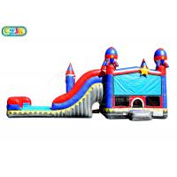 Wholesale Children Outdoor Inflatable Obstacle Course / Bounce House With Slide from china suppliers