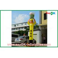 Wholesale Yellow Inflatable Air Dancer Cooker for Advertising , Inflatable Sky Dancer from china suppliers