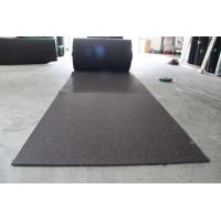 China Attractive Rubber Flooring Rolls , Playground Safety Black Rubber Mat Roll on sale
