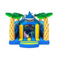 Quality New inflatable kids house PVC inflatable ocean themed bouncer lovely shark jumping for sale