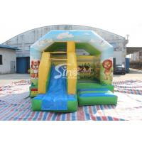 Wholesale Inflatable Cartoon Bounce House Jumping Castle With Slide For Inflatable Games from china suppliers