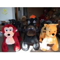 Wholesale Hansel attractive electric kids car plush riding animals amusement park ride from china suppliers