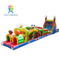 Wholesale Outdoor Sports theme inflatable air tunnel obstacle course combo from china suppliers