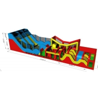 Quality 23×5M Inflatable Obstacle Courses Inflatable Slide  Inflatable Bounce for sale