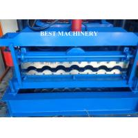 Wholesale Glazed Corrugated Metal Roof Tile Roll Forming Machine PLC Control System from china suppliers
