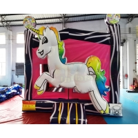 Wholesale 0.55mm Tarpaulin Unicorn Bouncy Castle Jumping Bouncer from china suppliers