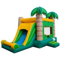 China Palm Tree Inflatable Bounce House With Slide Comfortable Strong Fire Retardant on sale