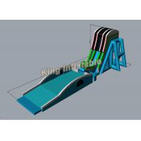 Wholesale 38m Long Green PVC Customized Sky Flying Giant Inflatable Water Slides For Event from china suppliers
