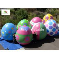 Custom Easter Egg Balloons Inflatable Advertising Products With Digital Printing