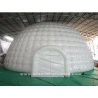 Wholesale 12m Giant Blow Up Hot Seal White Inflatable Igloo Dome Tent With 0.6mm pvc Tarpaulin Material from china suppliers