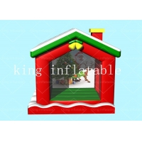 China Christmas Commercial 0.55 mm PVC Inflatable Bouncer House 3.3x2.75x3.5m on sale