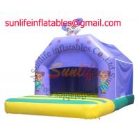 Wholesale inflatable 0.55mm pvc tarpaulin jumping castle BO037 from china suppliers