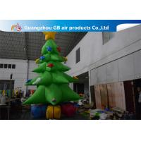 Wholesale Customized Giant Inflatable Christmas Tree Yard Decoration , Inflatable Tree With Ornaments from china suppliers