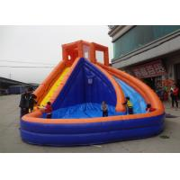 China Amusement Park Inflatable Water Slide , Adult Size Inflatable Water Slide on sale