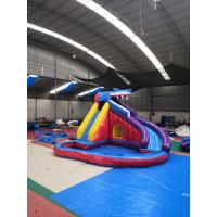 China Backyard Shark Giant Inflatable Slide , Blow Up Slide For Inground Pool on sale