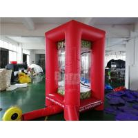 PVC Inflatable Cube Cash Money Catching Grab Machine Booth For Advertising