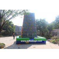 Buy cheap 0.55mm PVC double stitching inflatable climbing wall for sale from wholesalers