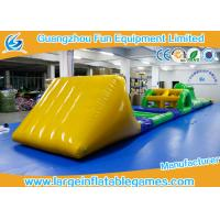 Wholesale Funny Inflatable Water Park Games / Inflatable Water Obstacle 0.6mm / 0.9mm Thickness from china suppliers