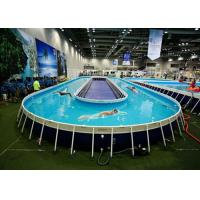 Wholesale Funny Above Ground Metal Framed Swimming Pools / 10ft Steel Frame Swimming Pool from china suppliers