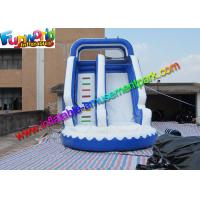 China Kids inflatable water slide , Blue Inflatable Wet Slide Combo Game on sale