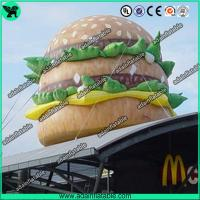 Quality Advertising Food Inflatable Hamburger Model With Air Blower/Mcdonald's Promotion for sale