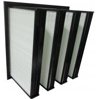 Wholesale ABS Plastic Frame Mini Pleated Ventilation System Box Type V Bank Filters from china suppliers