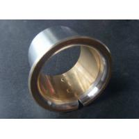Quality Main Shaft Bi Metal Bearings CuSn4Pb24 / Steel Flange Bearing for sale