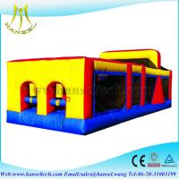 Wholesale Hansel high quality Funny inflatable tunnel/obstacle course with slide from china suppliers