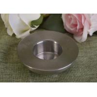 Wholesale 25Ml Mini Simple Silver Tealight Metal Candle Holders Thick Wall Eco Friendly from china suppliers