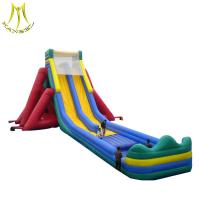 China Hansel inflatable trampoline parks cheap wholesale big inflatable slide with pool on sale