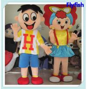 China boy and girl mascot costume on sale