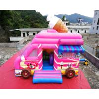 China Ice Cream Truck Commercial Bounce House 0.55mm PVC Inflatable Bouncer on sale