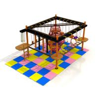 Wholesale children climbing equipment challenging game area rope course with one level from china suppliers