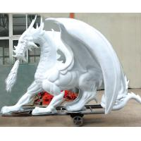 Wholesale Outdoor Playground Decoration Custom Fiberglass Statues White Dragon from china suppliers